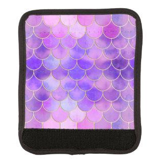 Ultraviolettes u. Goldmeerjungfrau-Skala-Muster Gepäck Markierung