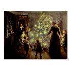 Um den Weihnachtsbaum Postkarte
