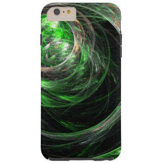 Um die Weltgrün-abstrakte Kunst Tough iPhone 6 Plus Hülle