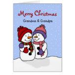 Umarmen der Schneemänner Weihnachtskarte Karte