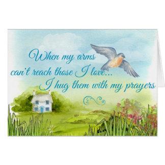 Umarmen Sie mit meiner Gebets-Karte Grußkarte