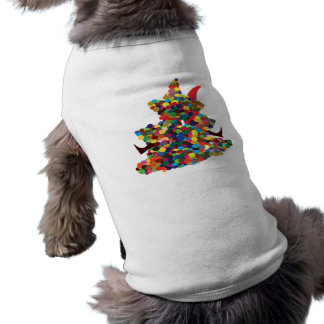 Umarmen von Sankt Ärmelfreies Hunde-Shirt