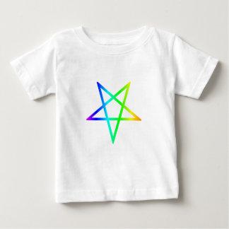 Umgekehrter RegenbogenPentagram Baby T-shirt