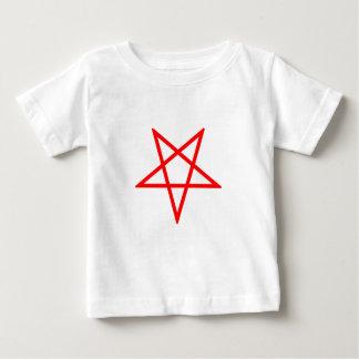 Umgekehrter roter Pentagram Baby T-shirt