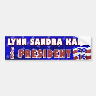 Unabhängiger 2016 Lynn-S Kahn Präsidenten-Wahl Autoaufkleber