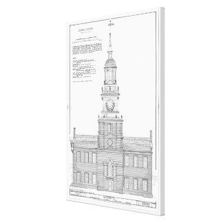 Unabhängigkeits-Hall-Plan-Diagramme Leinwanddruck