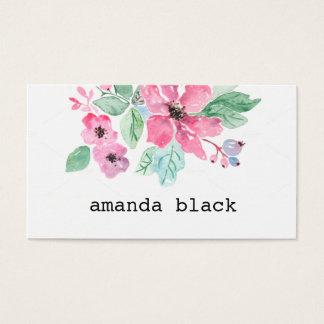 Unbedeutende Aquarell-mit BlumenVisitenkarte Visitenkarten