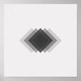 Unbedeutende Diamant-Schwarzweiss-Plakat Poster