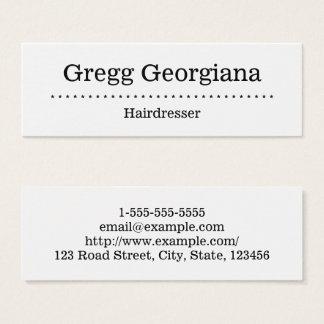 Unbedeutende und einfache Friseur-Visitenkarte Mini-Visitenkarten
