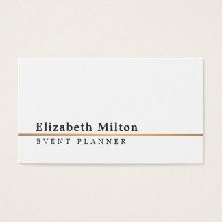 Unbedeutende weiße Imitat-Goldlinie Visitenkarten