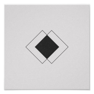 Unbedeutender Diamant-Schwarzweiss-Plakat Poster