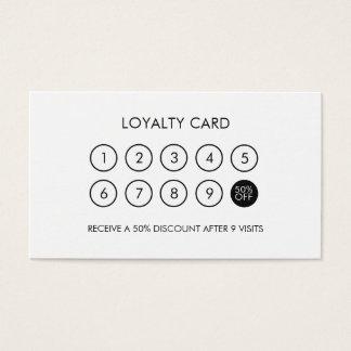Unbedeutender moderner eleganter Loyalitäts-Rabatt Visitenkarte