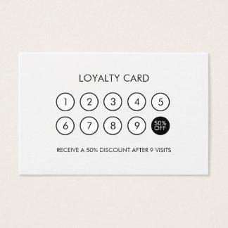 Unbedeutender moderner Loyalitäts-Rabatt Visitenkarte