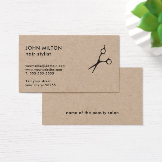 Unbedeutendes elegantes Braunes Packpapier Scissor Visitenkarten
