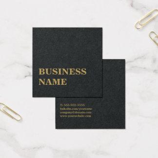 Unbedeutendes elegantes schwarzes quadratische visitenkarte