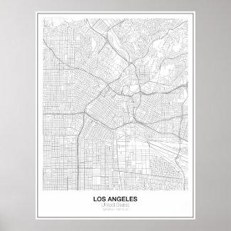 Unbedeutendes Karten-Plakat Los Angeless (Art 2) Poster