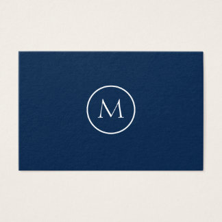 Unbedeutendes mit Monogramm elegantes dunkelblaues Visitenkarte