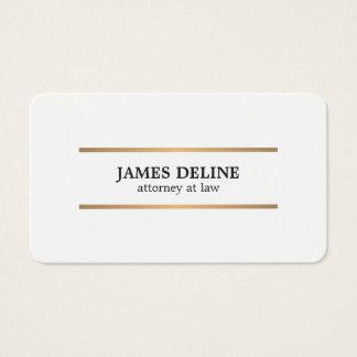 Unbedeutendes weißes Kupfer zeichnet Rechtsanwalt Visitenkarte