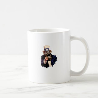 Uncle Sam - Mit Gasmaske!  Zombie-Apokalypse! Kaffeetasse