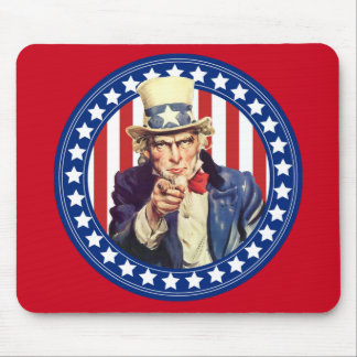 Uncle Sam US Flagge Mousepad