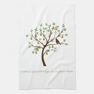 Und ein Rebhuhn in einem Birnenbaum Geschirrtuch