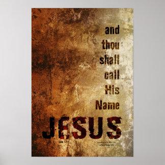 und Tausend sall Anruf sein Namens-JESUS Poster