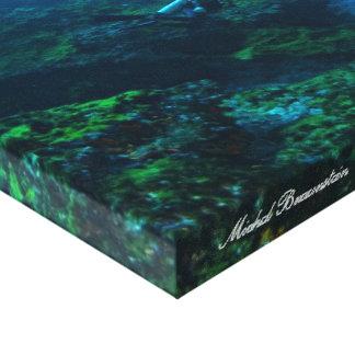 Underwater Fernando de Noronha, Brasilien - Leinwa Galerie Falt Leinwand