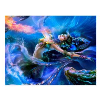 Underwater queen postkarte