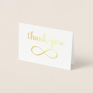 Unendlichkeits-Symbol-Kalligraphie danken Ihnen Folienkarte