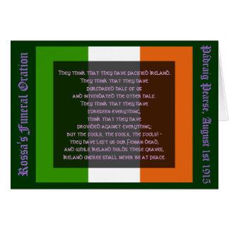 Unfree Irland ist nie am Frieden Grußkarte