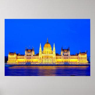 Ungarisches Parlaments-Gebäude Poster
