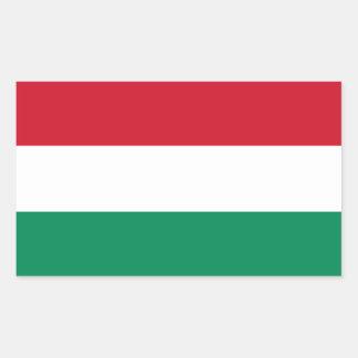 Ungarn-Flagge Rechteckiger Aufkleber
