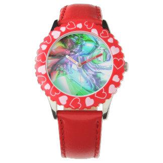 Ungeordnete Farbe abstrakt Uhr
