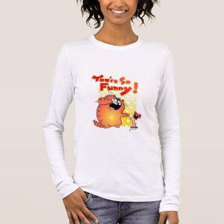 Unglaublich witzig Cartoon-Katze + Lustige Maus Langarm T-Shirt