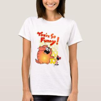 Unglaublich witzig fette Cartoon-Katze + Alberne T-Shirt