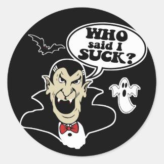 Unglaublich witzig Halloween Runder Aufkleber