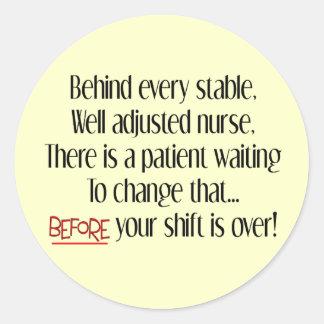 Unglaublich witzig Krankenschwester-Geschenke Runder Aufkleber