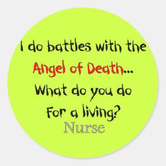 Unglaublich witzig Krankenschwester-T - Shirts und Runder Aufkleber