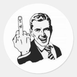 unglaublich witzig mittlerer Finger Runde Sticker