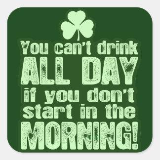 Unglaublich witzig Tagestrinken St. Patricks Stickers
