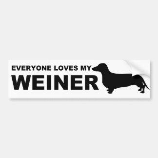 """Unglaublich witzig Weiner Hunde""""Dackel-"""" Zitat Autoaufkleber"""