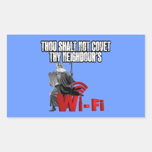Unglaublich witzig Wi-Fi Rechtecksticker