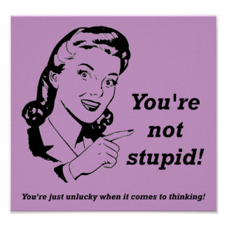 Unglücklicher Denker-lustiges Plakat-Zeichen Poster