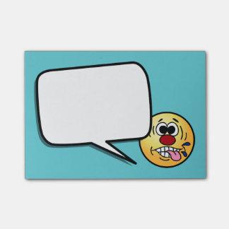 Unhöflicher Smiley Grumpey Post-it Klebezettel