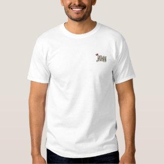 Unhuman gesticktes vorderes T-Shirt