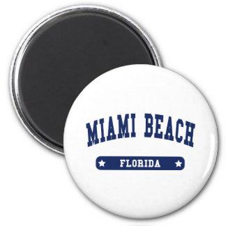 Uni-Artt-shirts Miami Beach Florida Runder Magnet 5,7 Cm