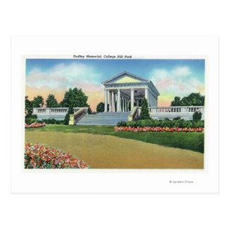 Uni-Hügel-Park-Ansicht von Dudley Denkmal Postkarte