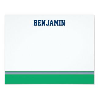 Uni-Streifen-Bar Mitzvah danken Ihnen zu kardieren 10,8 X 14 Cm Einladungskarte