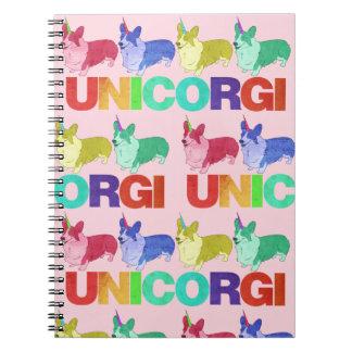 Unicorgi Notizbuch Spiral Notizblock