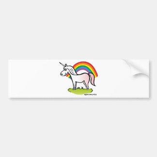 Unicorn and Rainbow - Einhorn und Regenbogen Autoaufkleber